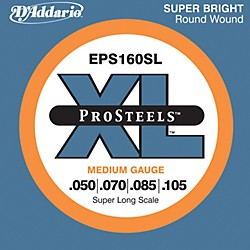D'Addario EPS160SL XL ProSteels Super Long Scale Medium Gauge Bass Strings (EPS160SL)