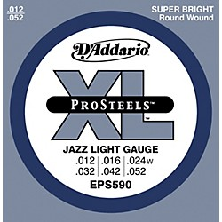 D'Addario EPS590 ProSteels Light Jazz Electric Guitar Strings (EPS590)