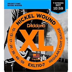 D'Addario EXL110-7 Lite 7-String Electric Guitar Strings (EXL110-7)