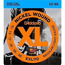 D'Addario EXL110 Nickel Wound Light Electric Guitar Strings Single-Pack (EXL110)