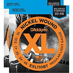 D'Addario EXL110BT Balanced Tension Lite Electric Guitar Strings (2-Pack) (EXL110BT-2PK)