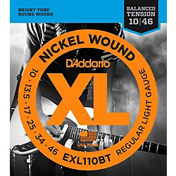 D'Addario EXL110BT Balanced Tension Lite Electric Guitar Strings Single-Pack (EXL110BT)