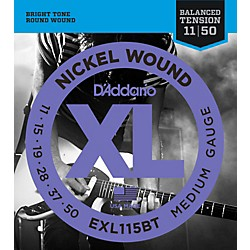 D'Addario EXL115BT Balanced Tension Medium Electric Guitar Strings - Single Pack (EXL115BT)