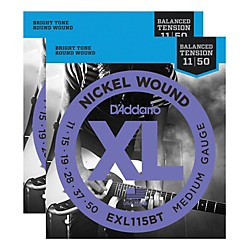 D'Addario EXL115BT Balanced Tension Medium Electric Guitar Strings (2-Pack) (EXL115BT-2PK)