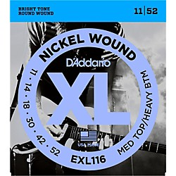 D'Addario EXL116 XL Electric Guitar Strings Medium Top/Heavy Bottom (EXL116)