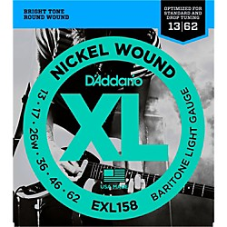 D'Addario EXL158 Light Baritone Electric Guitar Strings (EXL158)
