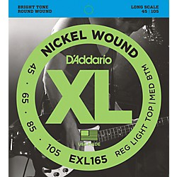 D'Addario EXL165 XL Nickel Round Wound Soft/Regular Bass Strings (EXL165)