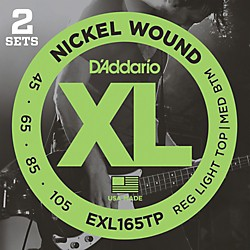 D'Addario EXL165TP Twin-Pack Bass Guitar Strings (EXL165TP)