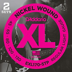 D'Addario EXL170-5TP 5-String Bass Guitar Strings (2 Sets) (EXL170-5TP)