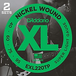 D'Addario EXL220TP Twin-Pack Bass Guitar Strings (EXL220TP)