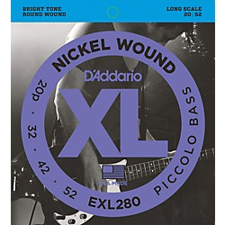 D'Addario EXL280 XL Piccolo Bass Regular/Long String Set (EXL280)