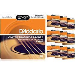 D'Addario EXP15 Acoustic Strings 10 Pack (KIT879026)