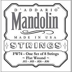 D'Addario FW74 Flatwound Medium Mandolin Strings (FW74)