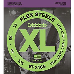 D'Addario Flexsteels Long Scale Bass Guitar Strings (45-105) (EFX165)