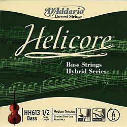 D'Addario HH613 Helicore Hybrid 1/2 Size Double Bass Light A String (HH613 1/2M)