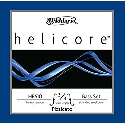 D'Addario HP610 Helicore Pizzicato 3/4 Size Double Bass Heavy String Set (HP610 3/4H)