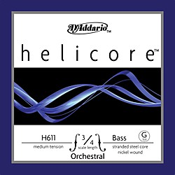 D'Addario Helicore Orchestral 3/4 Size Double Bass Strings (H611 3/4M)