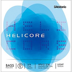 D'Addario Helicore Pizzicato Bass Strings (HP612 3/4L)