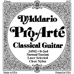 D'Addario J45 B-2 Pro-Arte Clear Normal Single Classical Guitar String (J4502)
