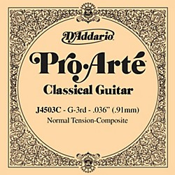D'Addario J45 G-3 Pro-Arte Clear Normal Single Classical Guitar String (J4503C)