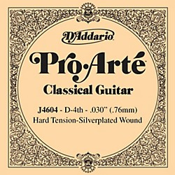 D'Addario J46 D-4 Pro-Arte SP Hard Single Classical Guitar String (J4604)