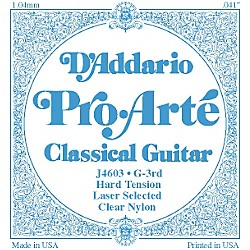 D'Addario J46 G-3 Pro-Arte Clear Hard Single Classical Guitar String (J4603)