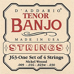 D'Addario J63 Tenor Banjo Strings (J63)