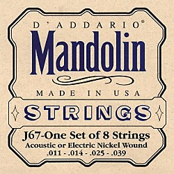 D'Addario J67 Nickel Mandolin Strings (J67)