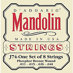 D'Addario J74 Phosphor Bronze Medium Mandolin Strings (J74)