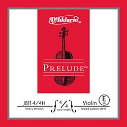 D'Addario J811 Prelude 4/4 Violin Single E String Plain Steel (J811 4/4H)