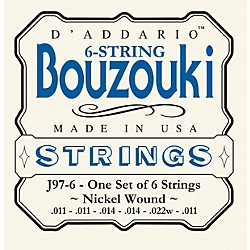 D'Addario J97-6 6-String Nickel Wound Greek Bouzouki Strings (J97-6)