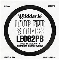 D'Addario LE062PB Phosphor Bronze Wound Single String (LE062PB)