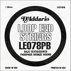 D'Addario LE078PB Phosphor Bronze Wound Single String (LE078PB)