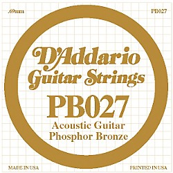 D'Addario PB027 Phosphor Bronze Guitar Strings (PB027)