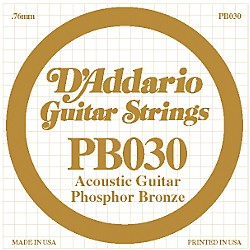 D'Addario PB030 Phosphor Bronze Acoustic Guitar Strings (PB030)