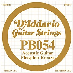 D'Addario PB054 Phosphor Bronze Single Acoustic Guitar String (PB054)