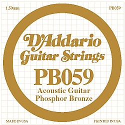 D'Addario PB059 Single Phosphor Bronze String (PB059)