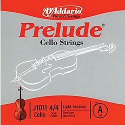 D'Addario Prelude 4/4 Size Light Cello A String (J1011 4/4L)