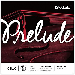 D'Addario Prelude Cello D String (J1012 1/4M)