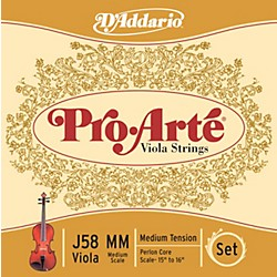 "D'Addario Pro-Arte J58 15""-16"" Scale Viola String Set (J58 MM)"