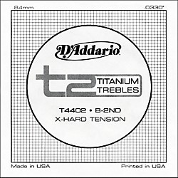D'Addario T4402 T2 Titanium X-Hard Single Classical Guitar String (T4402)