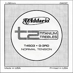 D'Addario T4503 T2 Titanium Normal Single Guitar String (T4503)