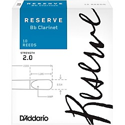 D'Addario Woodwinds Reserve Bb Clarinet Reeds 10 Pack (DCR1020)