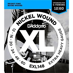 D'Addario XL148 Nickel-Wound, Drop C Tuning Electric Guitar Strings (EXL148)