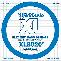 D'Addario XLB020P Electric Bass Nickel Single String (XLB020P)