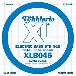 D'Addario XLB045 Nickel Wound Electric Bass Single String (XLB045)