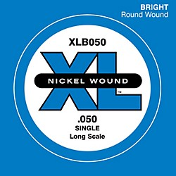 D'Addario XLB050 Nickel Wound Electric Bass Single String (XLB050)