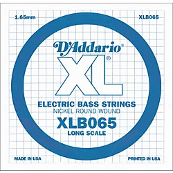 D'Addario XLB065 Extra Long Single Bass String (XLB065)