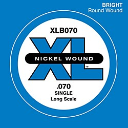 D'Addario XLB070 Bass Nickel Single Strings (XLB070)