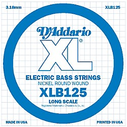 D'Addario XLB125 Nickel Wound Electric Bass Single String (XLB125)